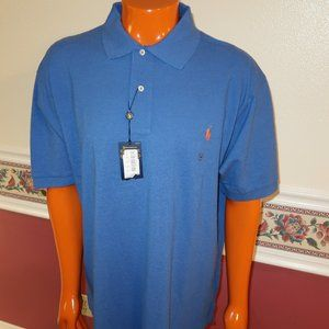 MENS POLO RALPH LAUREN SIZE 2XB POLO SHIRT BLUE